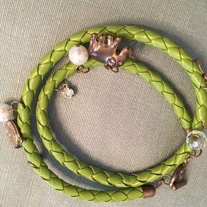 Funky lime green wrap bracelet